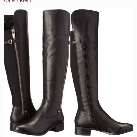 Gladys 9 Tall Black Wide Calf Boots